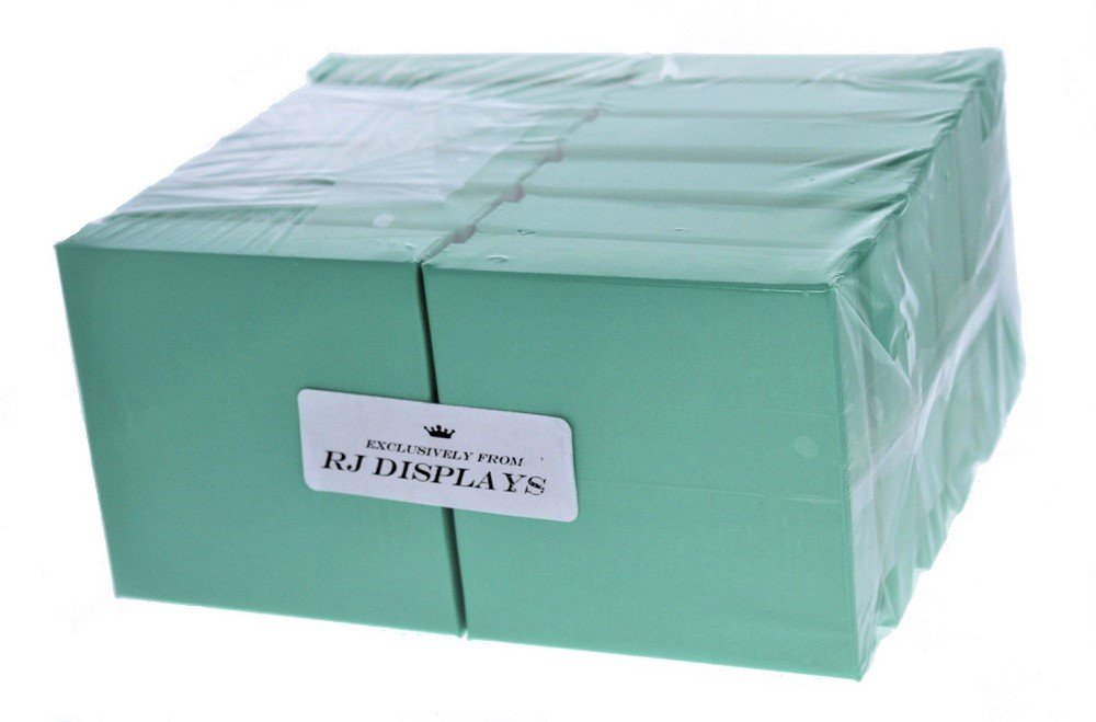 20 Pack Cotton Filled Teal Blue Color Jewelry Gift and Retail Boxes 3 X 3 X 1 Inch Size by R J Displays