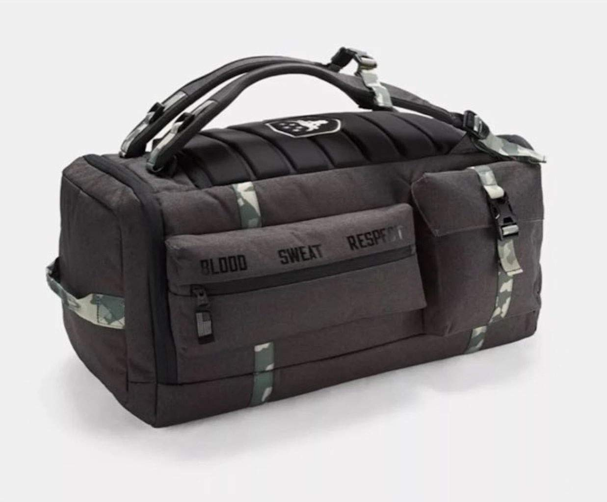 UA x Project Rock USDNA Cordura Range Duffle Bag Gray Camo