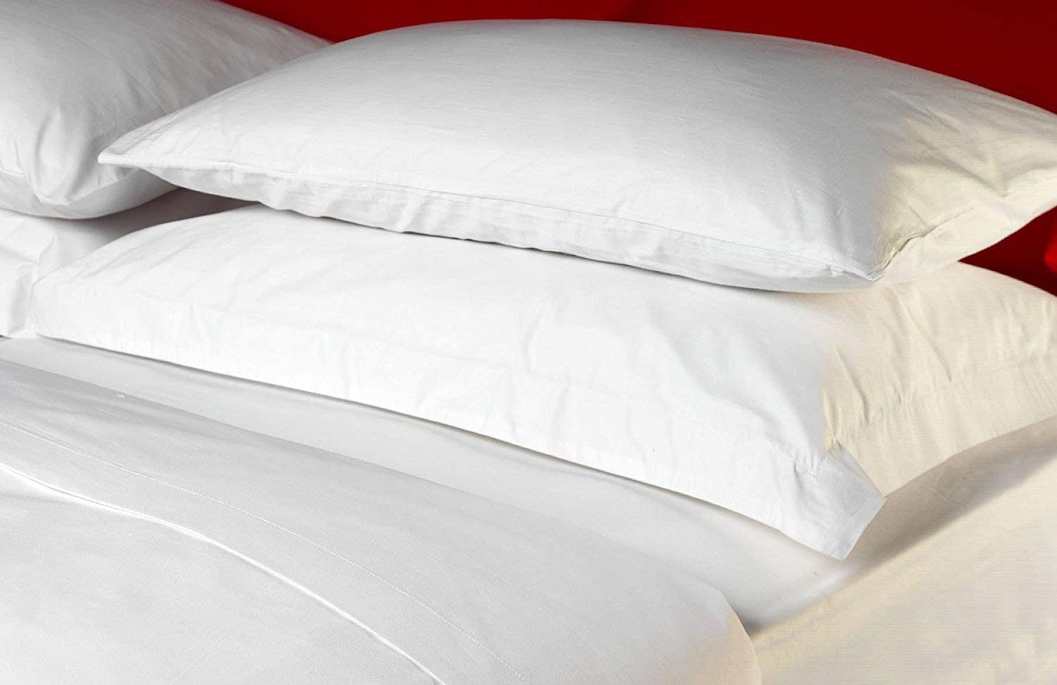 100% Egyptian Cotton King Size Duvet Cover Set- White by Luxury Home Linens