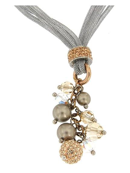 ottenere a buon mercato la più grande selezione di rivenditore di vendita Boccadamo Collana in Metallo Lavorazione Tessita con ...