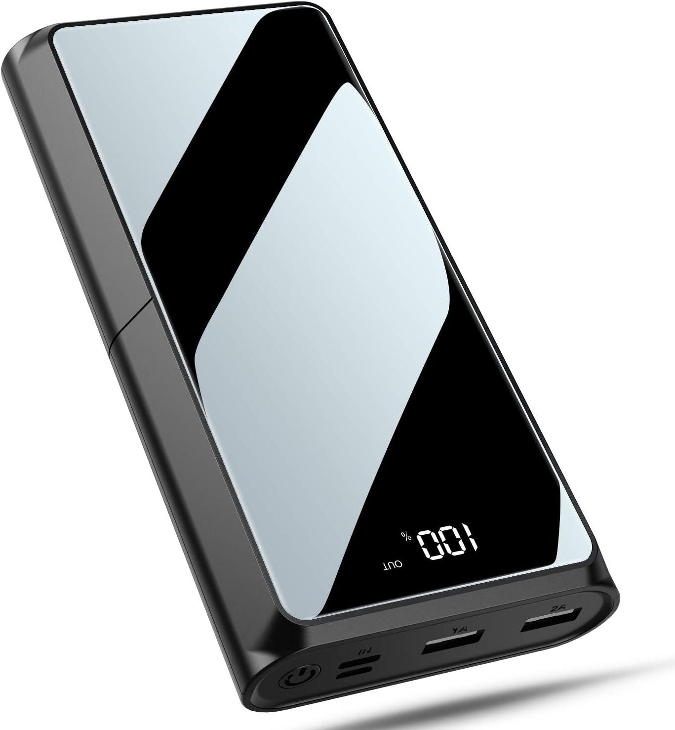 Bewahly Batería Externa 20000mAh, USB C 18W PD Carga Rápida Power Bank Cargador Portátil, Bateria Portatil para Movil con Pantalla LCD, 3 Salida & 2 Entrada para iPhone, Samsung, Huawei y Más - Ne