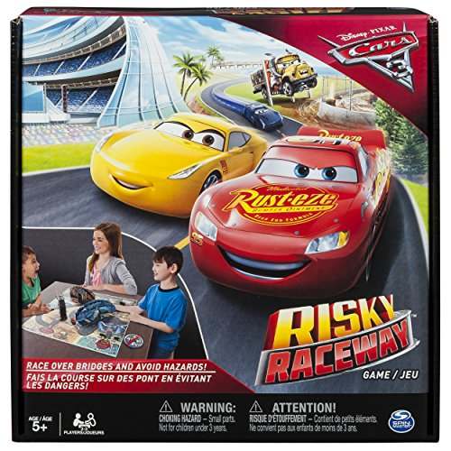 Spin Master Games - Cars 3 - Risky Raceway - Board Game (Old Game 4 For Ds Year)