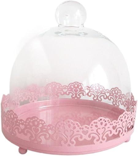 Gran y campana de cristal con base de F, de pastelería/moldes para magdalenas mini-tartas con campana extractora de: Amazon.es: Hogar