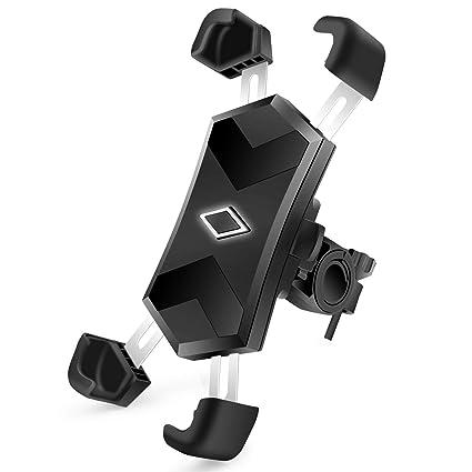 Fahrrad Handyhalterung SYOSIN Universal Edelstahl Motorrad Fahrrad Lenker Handy Halterung f/ür 4-7 Zoll Smartphone mit 360/° Drehbar