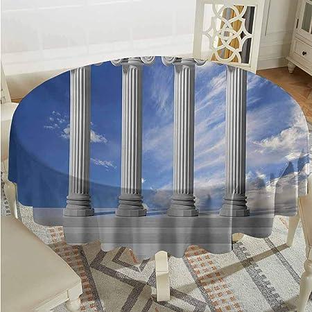 XXANS Funda de mesa impermeable, pilar, diseño antiguo, tres ...