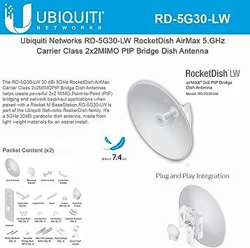 Ubiquiti RocketDish LW airMAX 5GHz 2x