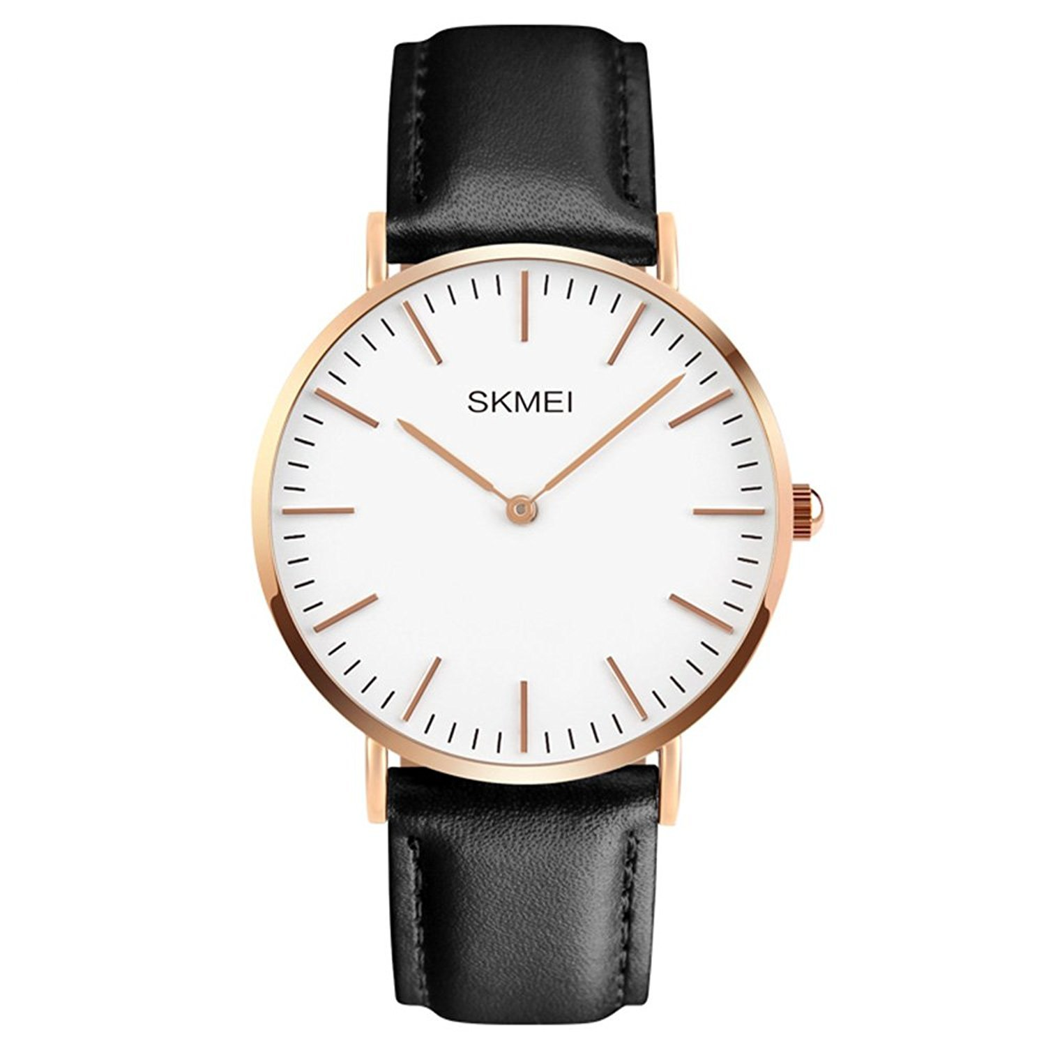 Men S Dress Wrist Quartz Watch With Black Leather Band Men Business Waterproof Classic Casual Analog Watches Fashion Thin Case Wristwatch