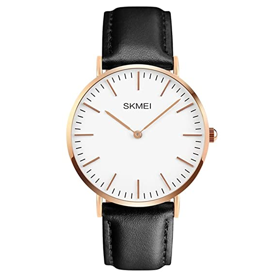 5b1ab5417 Image Unavailable. Image not available for. Color: Men's Dress Wrist Quartz  Watch with Black Leather Band - Men Business Waterproof Classic Casual  Analog