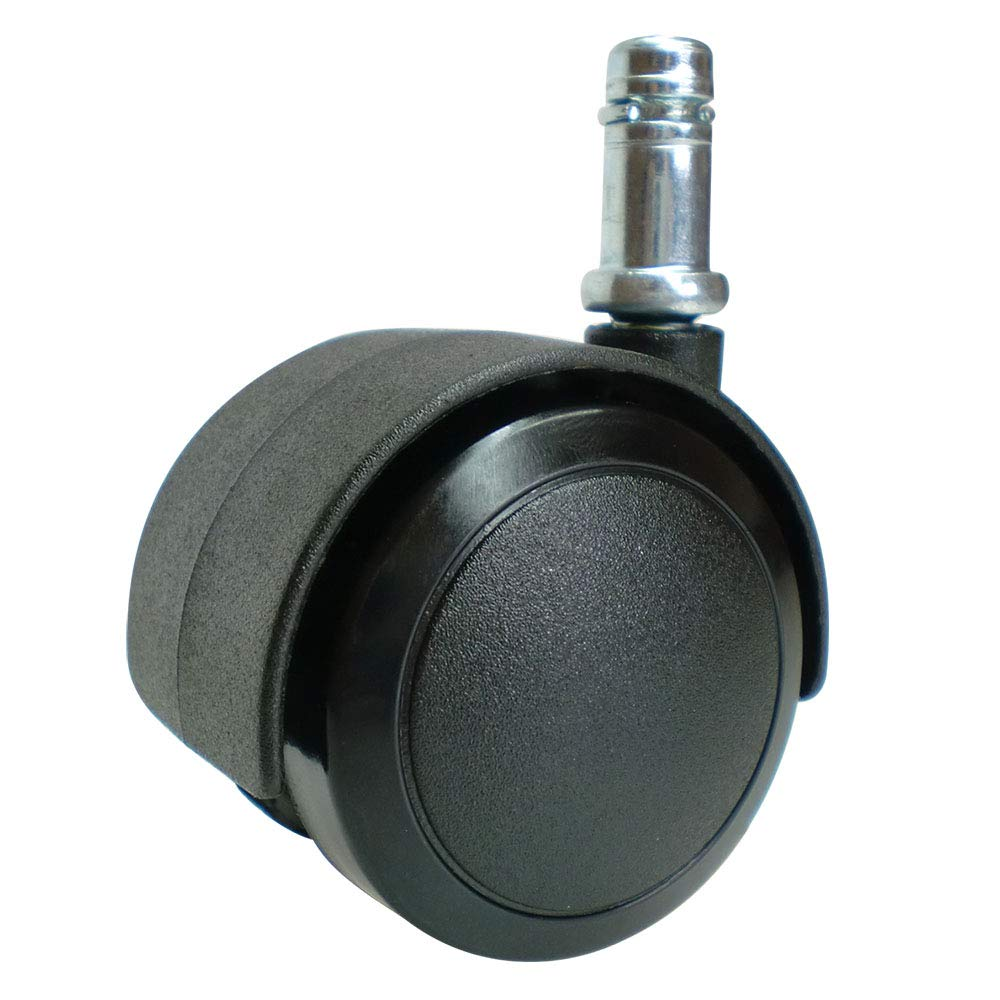 "Enjoy Office Desk Chair Replacement Wheels Castors with 3/8""(10mm) stem fit IKEA Chairs - Black(Set of 5)(5006B-14-IK) DYWT"