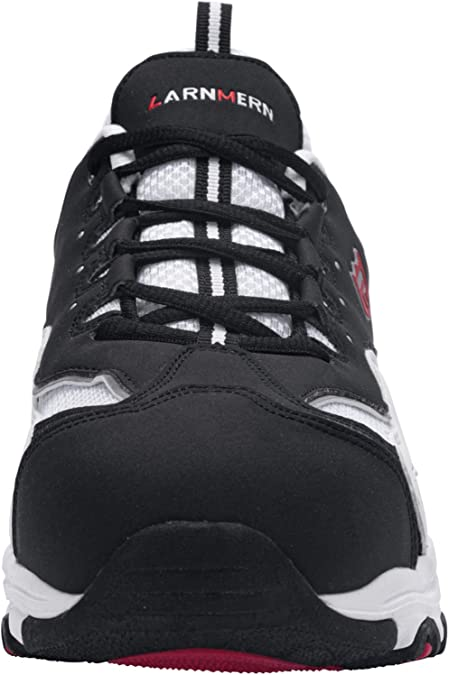 42,Gris LARNMERN Zapatos de Seguridad Hombre C/ómodas,S1 SRC Zapatillas de Trabajo con Punta de Acero Ultraligero Transpirables