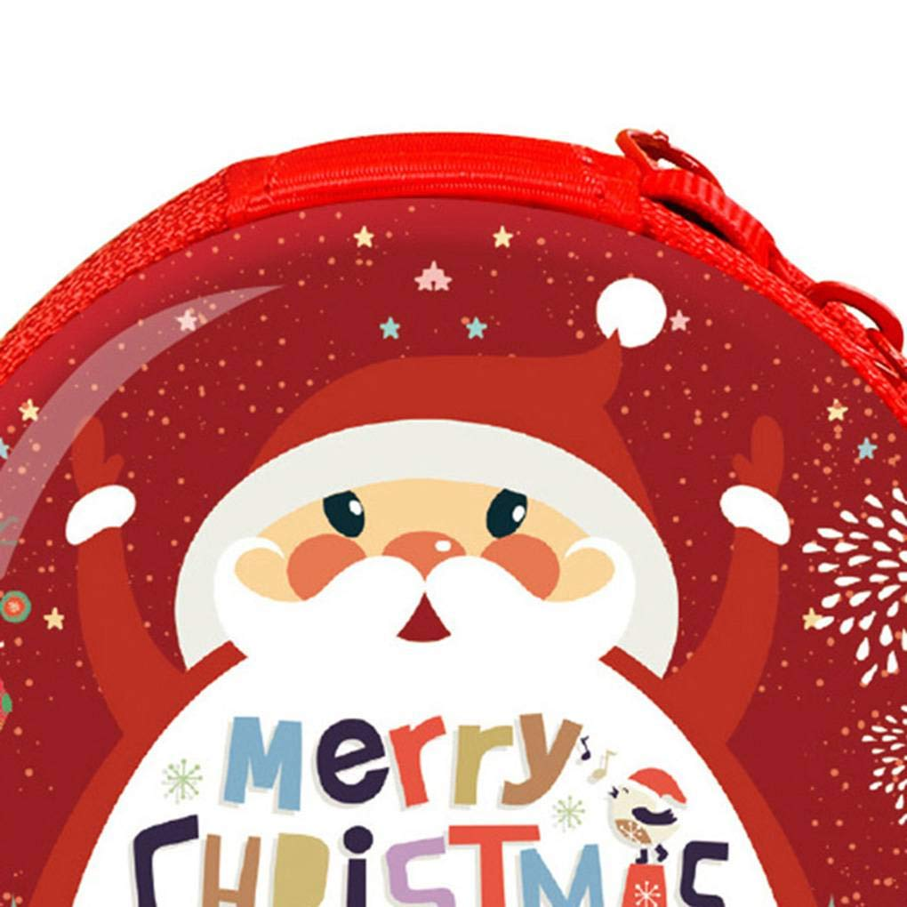 Fangfeen Bambini Mini Ferro Coin Purse Piccoli Capretti di Stampa di Natale Portafoglio Casual Portachiavi Money Bag Sacchetto della Moneta