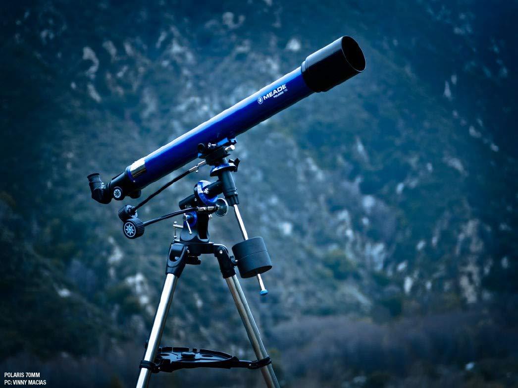 Meade Instruments 216001 Polaris 70 EQ Refractor Telescope (Blue)