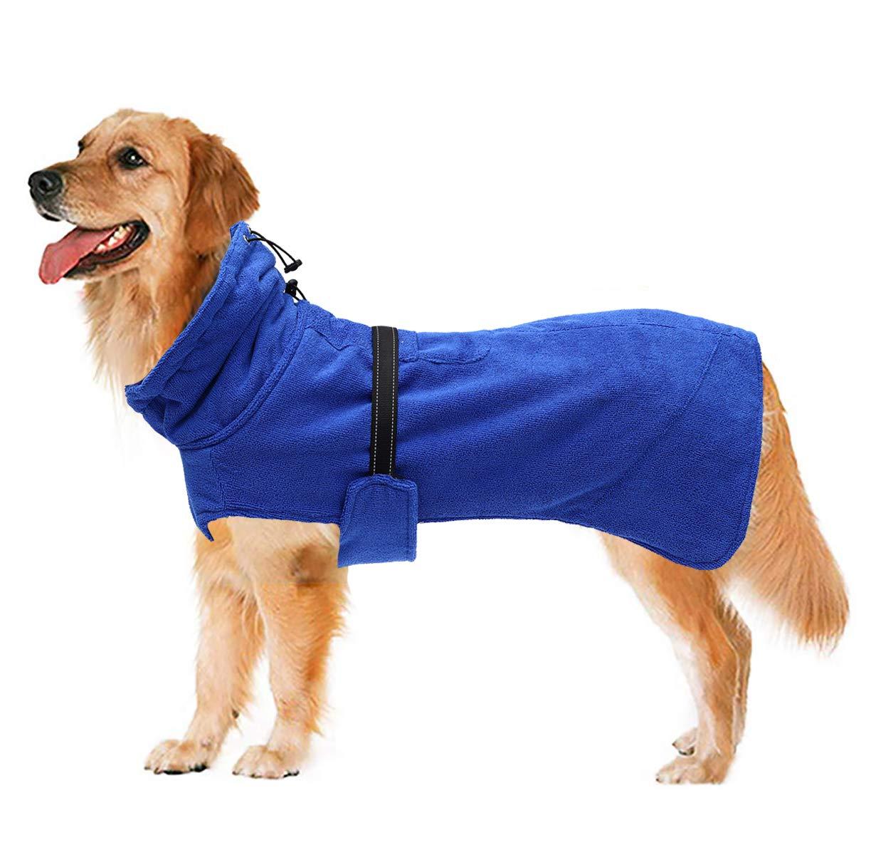 Geyecete Dog Bathrobe - Quick Drying Microfiber Bathrobe for Dog Cat Pet - Dog Bathrobe Towel-Puppy Bath Towel - Absorption Bath Towels