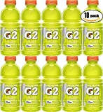 Gatorade Lemon Lime G2, Thirst Quencher, 20oz Bottle (Pack of 10, Total of 200 Oz)