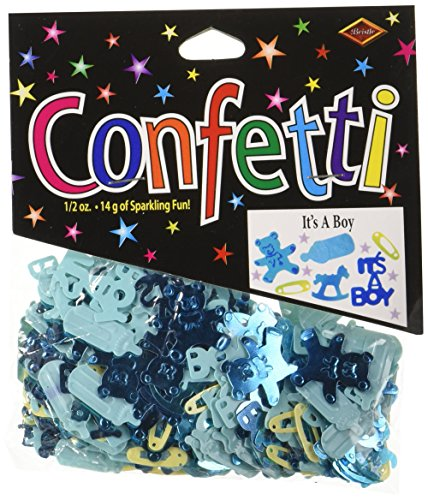 Beistle CN048 It's a Boy - Confetti Bear