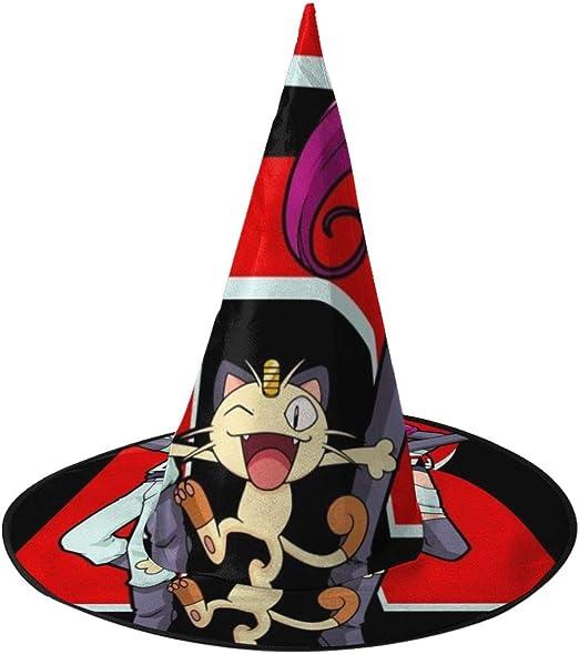 NUJSHF Team Rocket Monster of The Pocket Sombrero de Bruja Unisex ...