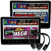 [Pair] Autotain MEGA 12 Inch Headrest Monitor DVD Player +HDMI +1080P +Home Power Supply +Cloud IR Headphones