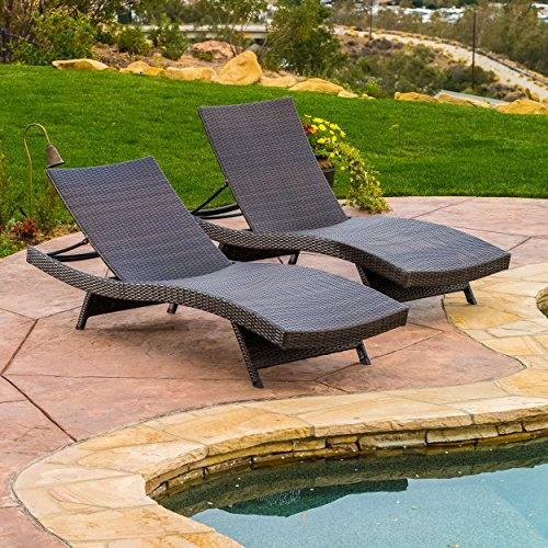 christopher knight home 294919 lakeport outdoor adjustable chaise lounge chair set of 2. Black Bedroom Furniture Sets. Home Design Ideas