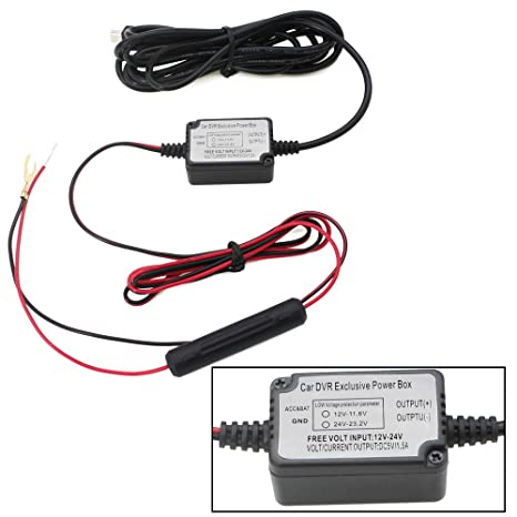 Dash Cam Hard Wire Kit Mini USB,Built-in Fuse 5V/2A 10 feet for in Dash Cam Hard Wiring Kit on