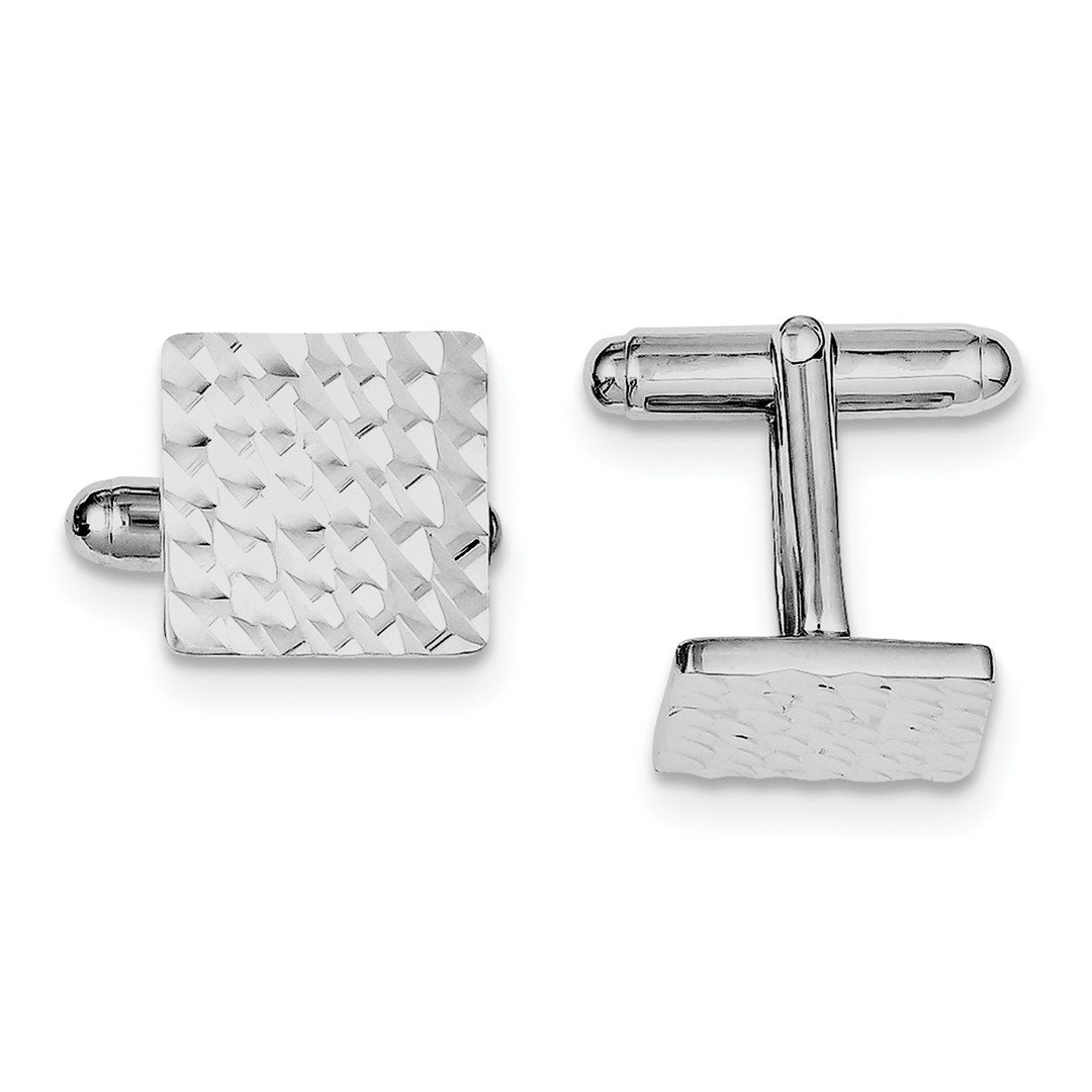 ICE CARATS 925 Sterling Silver Square Cuff Links Mens Cufflinks Man Link Fine Jewelry Dad Mens Gift Set by ICE CARATS (Image #1)