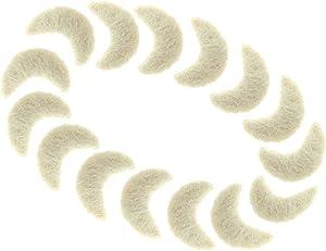 4cm 40mm Moon Shape Wool Felt Balls Beads 100% Natural Wool Felting Woolen Felted Fabric for Home Decor Dream Catcher DIY Baby-Mobile Garland Crafts Handcrafts Project DIY (Moon Beige 4cm 15pcs)