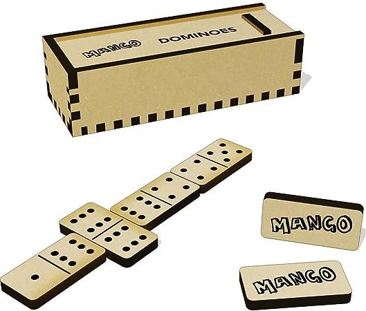 Azeeda Mango Domino Juego y Caja (DM00008735): Amazon.es: Juguetes y juegos