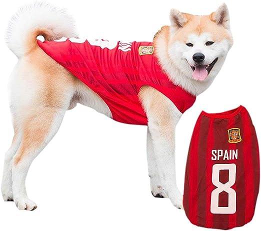 Siray 2018 World Cup España Team Jersey Pet Versión Pet Ropa de Perro: Amazon.es: Productos para mascotas