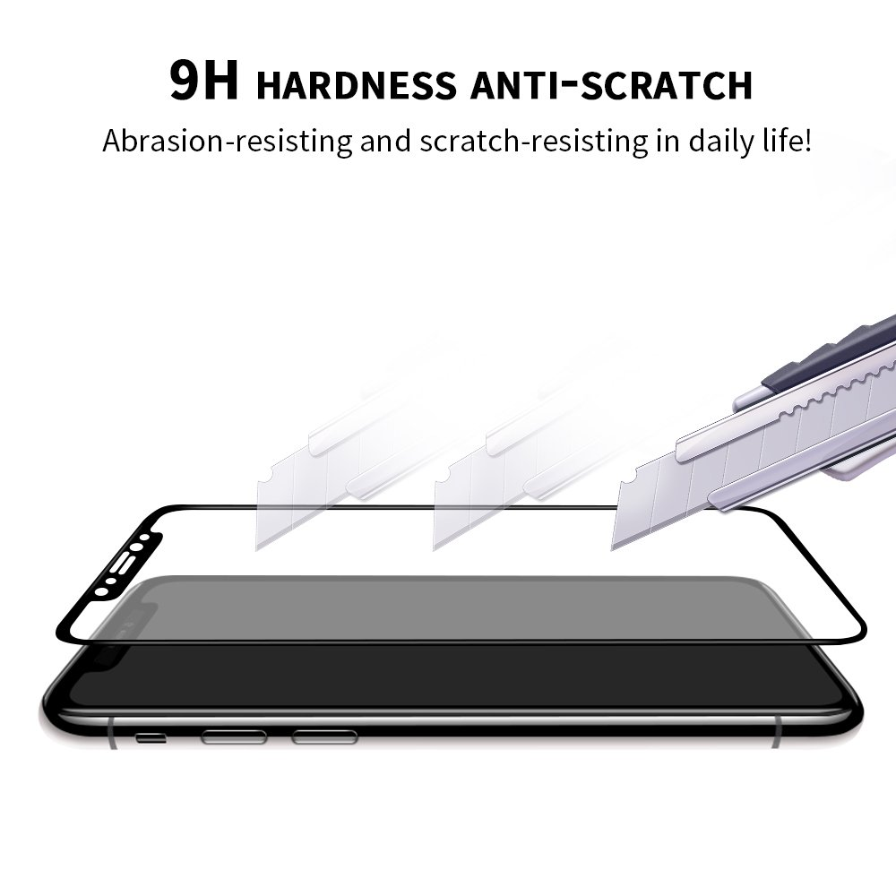 iPhone X Screen Protector, WengTech 3D Curved 9H Hardness Case Friendly Shatter Proof Touch Sensitive Ultra Clear Tempered Glass Screen Protector Film for iPhone X/iPhone 10