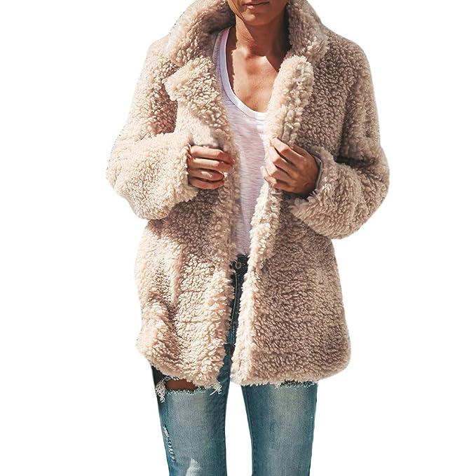 Luckycat Chaqueta Casual de Mujer Invierno Cálido Parka Outwear para Mujer Abrigo: Amazon.es: Ropa y accesorios