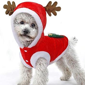 979818804522d BulzEU Hiver Noël Vêtements Costume Cerf pour Animaux Chien Chat (XL ...