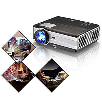 HD Video Projector 4200 Lumen LCD LED Multimedia Outdoor Movie Proyector WXGA Home Theater Cinema Smart Projectors with Zoom Speaker HDMI USB VGA for ...