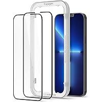 Spigen AlignMaster Skärmskydd kompatibel med iPhone 13 Pro Max, 2 Stycken, met sjabloon voor installatie, Full Täckning…