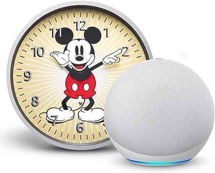 【セット買い】 Echo 第4世代 (グレーシャーホワイト) + Echo Wall Clock - Disney ミッキーマウス エディション