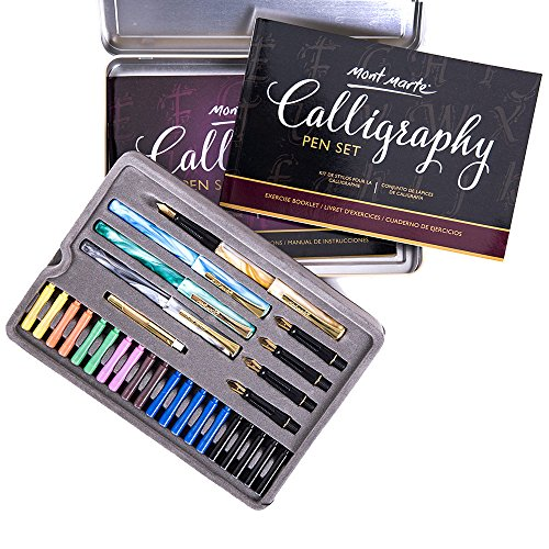 Calligraphy Pens Set by Mont Marte, Best Calligraphy Set for Beginners&Kids-33Pieces-2Pack, Includes Calligraphy Pens, Calligraphy Nibs, Ink Cartridges, and Exercise Workbook by Mont Marte (Image #4)