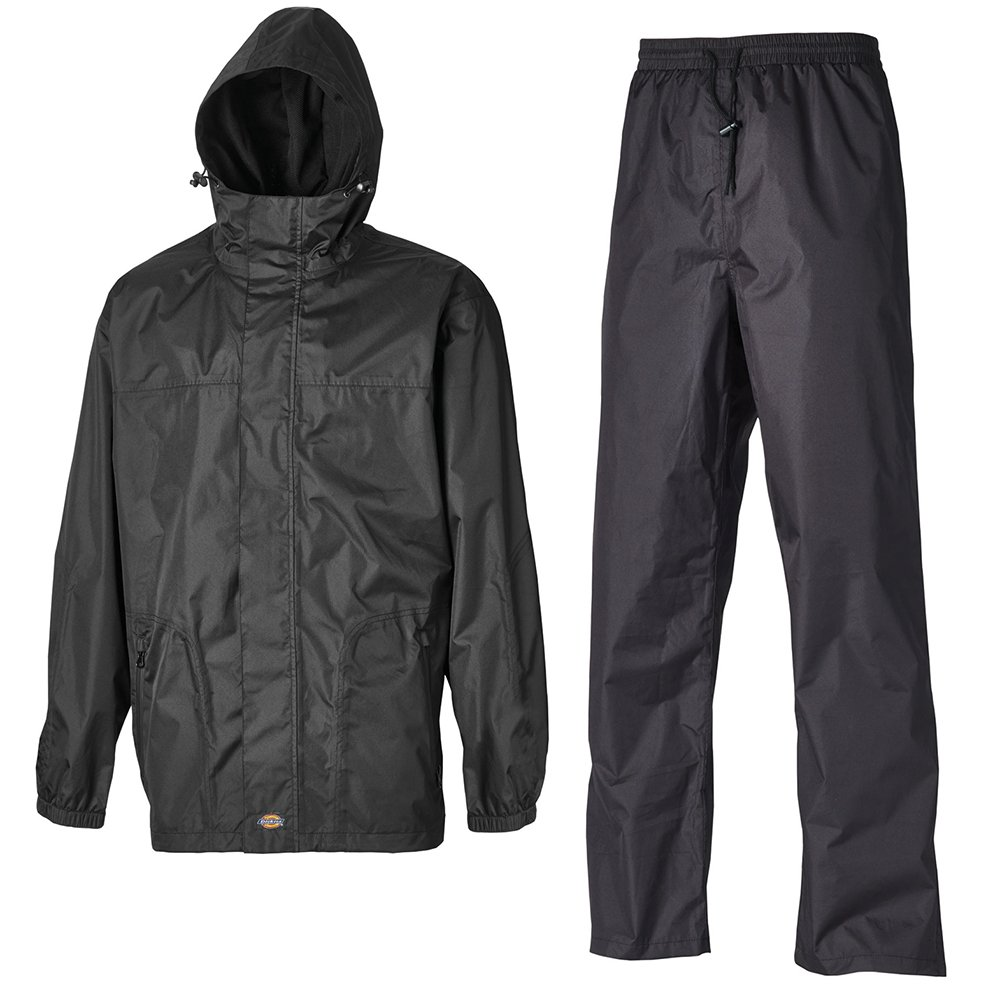 Dickies Somerton Mens Work Wear Black Waterproof And Breathable Suit (Jacket And Trousers) WP7005