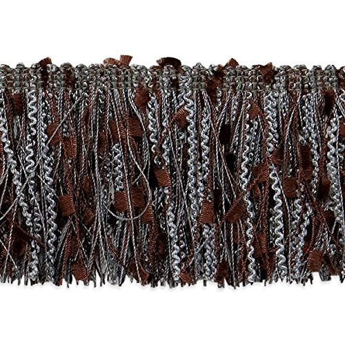 Fringe Cut Brush (Expo International RIC-Rac Patch Cut Fringe Trim, 10 yd, Pewter/Multicolor)