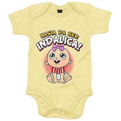 Body bebé nacida para ser Indálica Almería fútbol - Amarillo, 6-12 meses