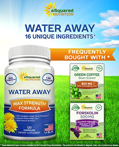 Water Away Diuretic (120 Capsules) - Herbal Water Pills