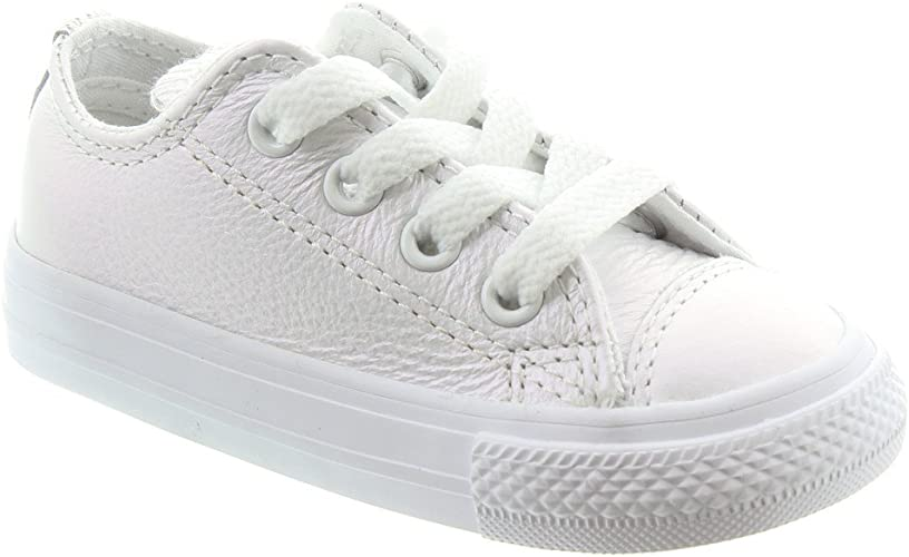 Converse CTAS Ox White, Baskets Mixte Enfant
