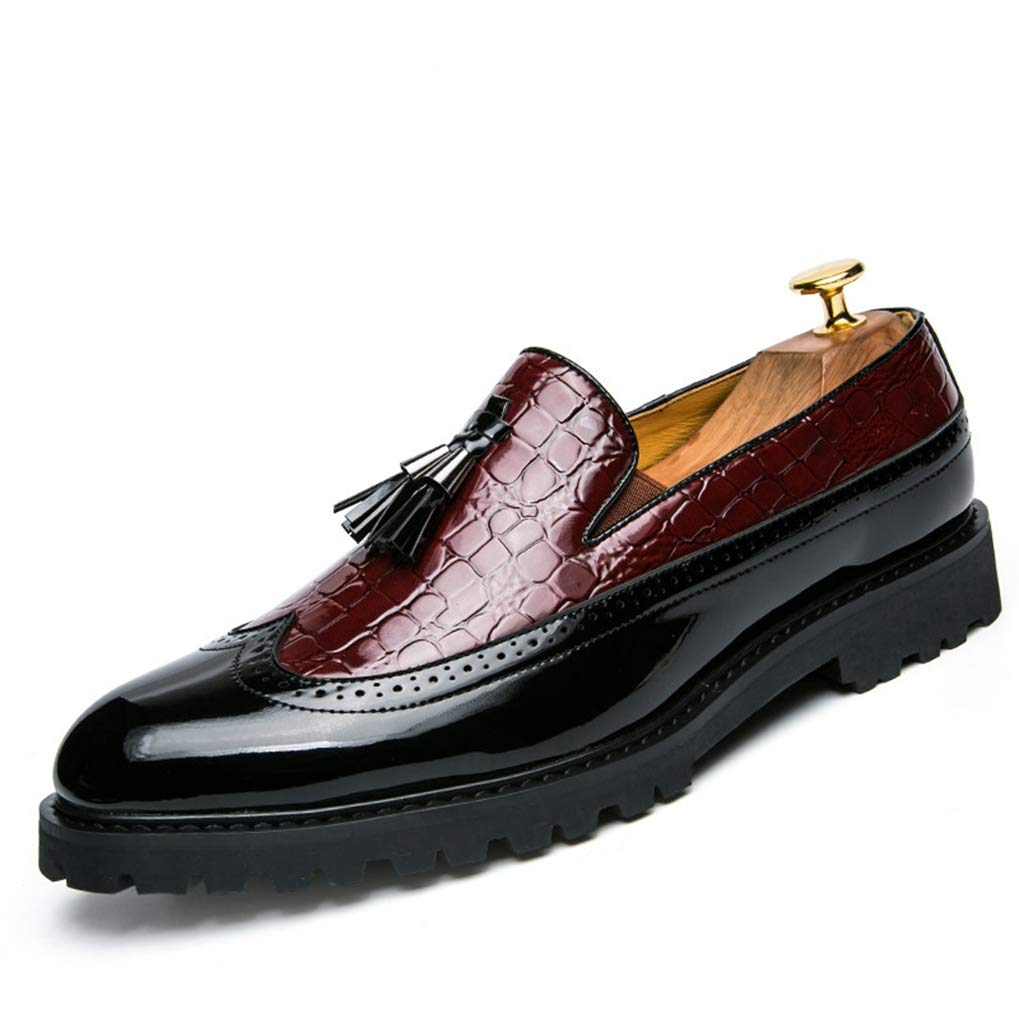 Starttwin Loafers Shoes for Men Lightweight Anti-Slip Damping Soft Party Dress Shoes