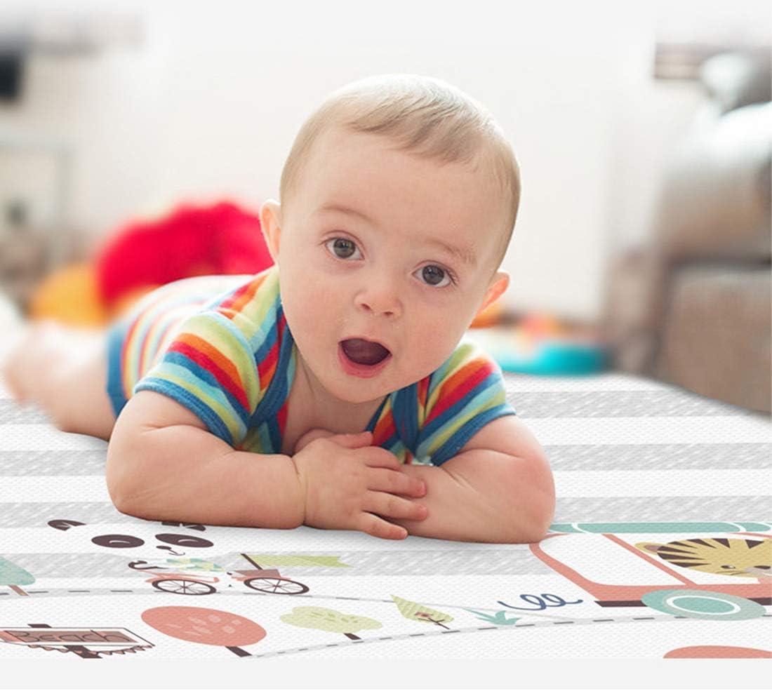 200 x 180 x 1 cm Tapis Pliable Imperm/éable /étanche Grand Tapis de Jeu Sol pour Enfant Rampe Motifs Non Toxique Tapis OATop Tapis de Jeu pour B/éb/é