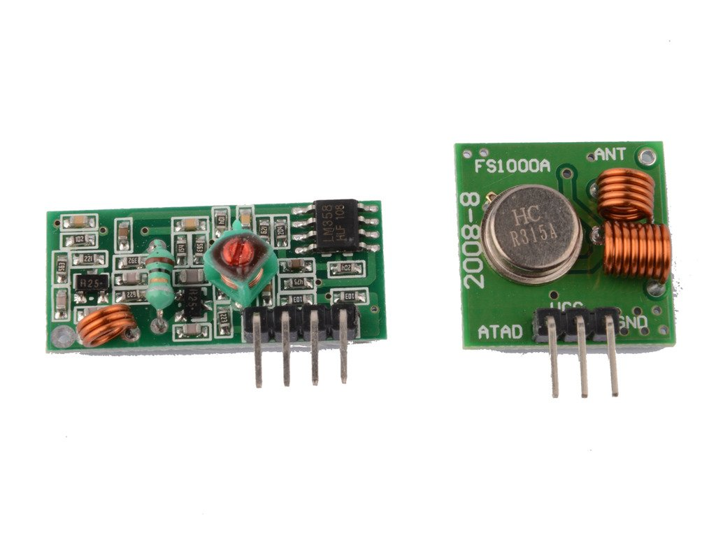 DAOKI 5PCS 315Mhz RF Transmitter and Receiver Link kit for Arduino//ARM//MCU//Raspberry pi Wireless TS-US-076/_5
