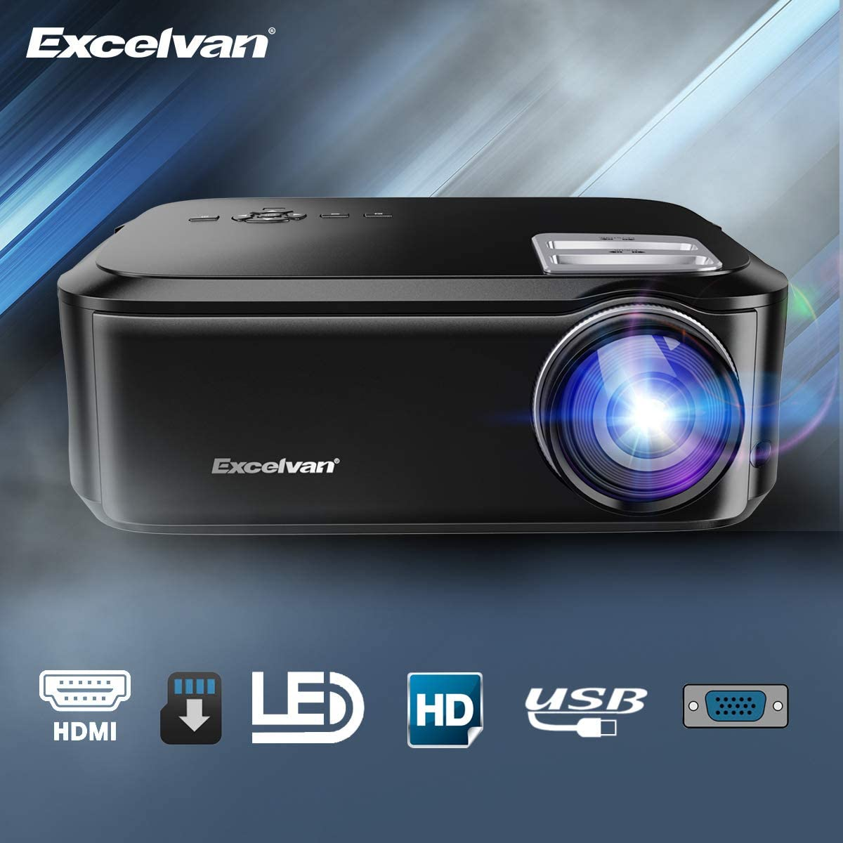 Mini proyector,Excelvan 200 Pulgadas Pantalla 1920*1080 Resolución ...