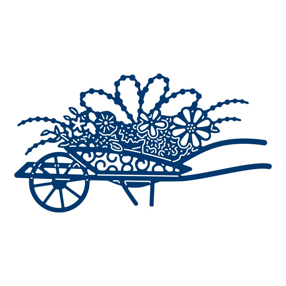 Tattered Lace Summertime Flower Cart Cutting Die D1258