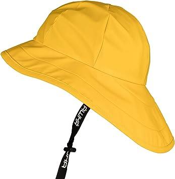 AWHA Sombrero de Lluvia Amarillo/Unisex - Gorra Impermeable de ala ...