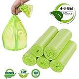 Amazon.com: Yamix - Cesta de basura de piel resistente al ...