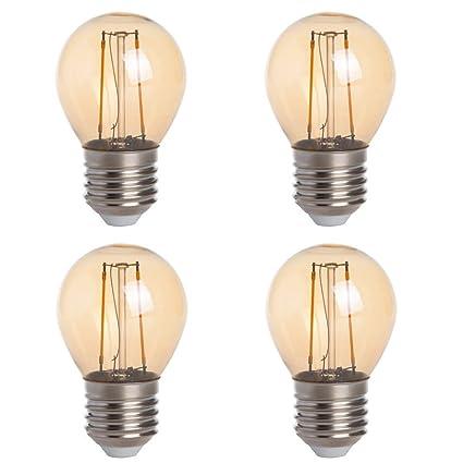 Amazon.com: HERO-LED G16 E26/E27 Edison Style - Bombilla LED ...