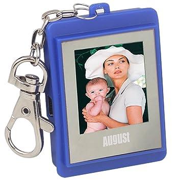 August DP150 Marco de Fotos Digital Llavero - Visualizador de Fotos con Memoria Interna capaz de almacenar hasta 107 Fotos (Azul): Amazon.es: Deportes y ...