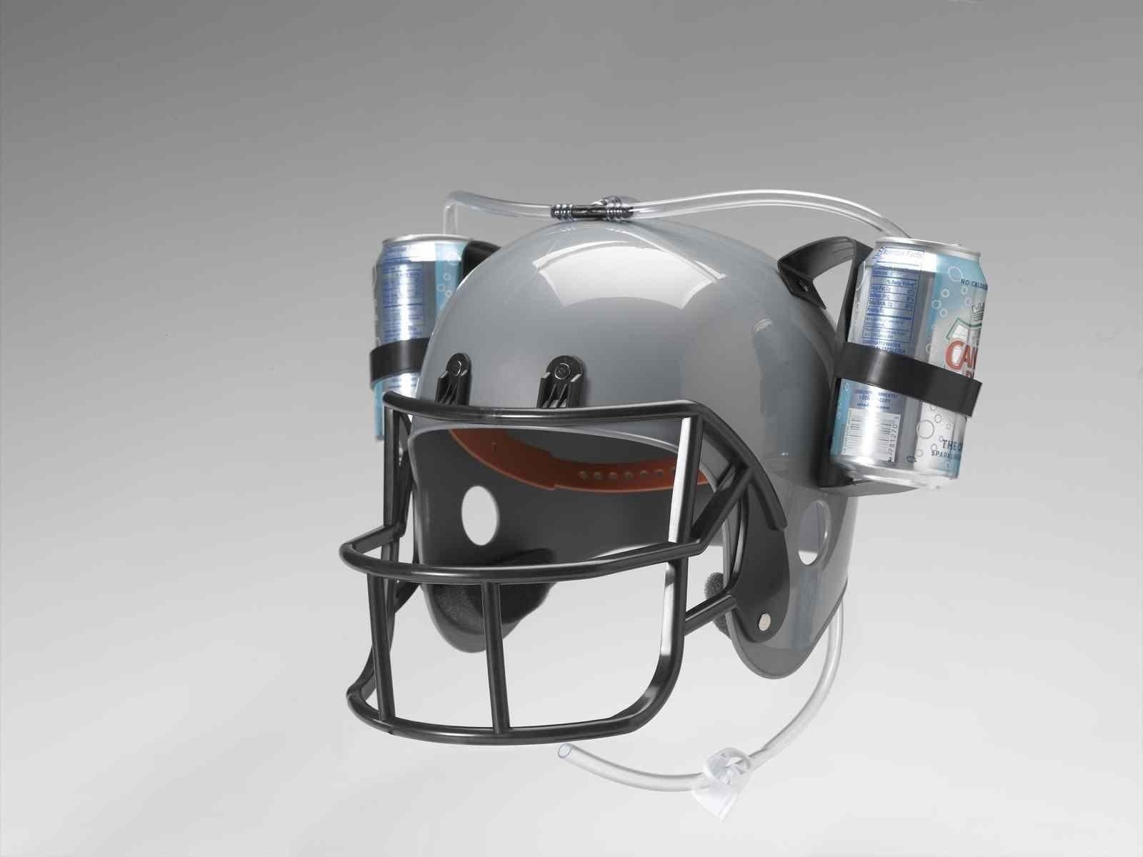 Football Drinking Helmet - Silver Novelty Item by Forum Novelties (Image #2)