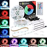 Relohas Led Strip Lights, 2018 New Upgraded 32.8ft(10M) Waterproof Flexible RGB Led Strip Light Kit,5050 SMD 300led with 44 IR controller,Extra Adhesive 3M Tape Strip for Home and TV Decoration